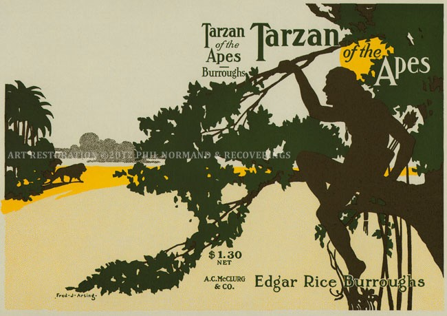 Tarzan of the Apes Letterpress Art Print