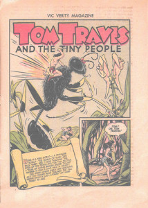 Tom Travis and the Tiny People. Art by C.C. Beck Vic Verity Magazine, 1945