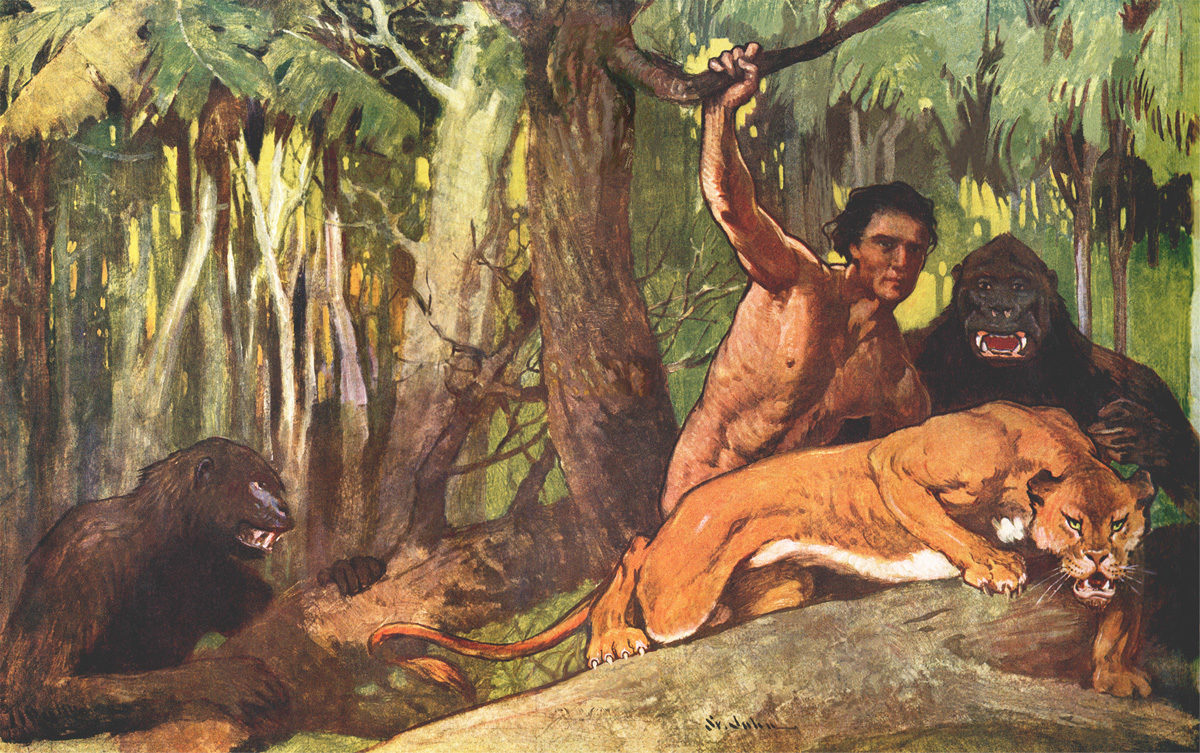 The Beasts of Tarzan painting