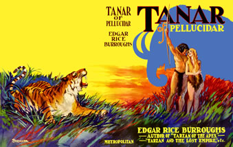 Dust jacket for Tanar of Pellucidar