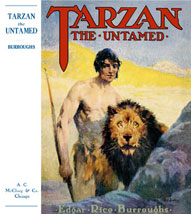 Tarzan and the black-maned lion.